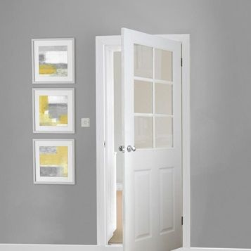 Bring Natural Light Into A Space With This Six Panel Glazed Internal Doorway Which Comes In A Wide Selection Of Sizes To Suit In 2020 Internal Doors Doors Glazed Door