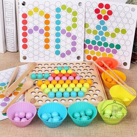 Montessori Educational Wooden Toys for Kids Montessori Toys Board Math Fishing  Montessori Toys Educational for 1 2 3 Years Old - MT0028