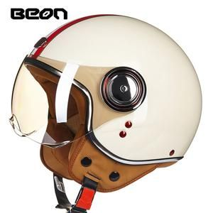 Beon Motorcycle Helmet Chopper 3 4 Open Face Vintage Helmet Moto Casque Casco Capacete Men Women Scooter Motorbike Helmet Motorcycle Helmets Vintage Scooter Helmet Vespa Helmet