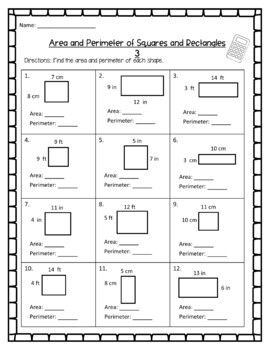 Distance Learning Area And Perimeter Worksheets Digital Area And Perimeter Worksheets Area And Perimeter Perimeter Worksheets