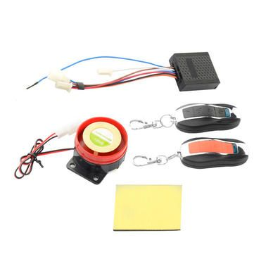 48v 64v Waterproof Motorcycle Scooter Anti Theft Security Remote Alarm Lock Electronic Security Systems Remote Motorcycle
