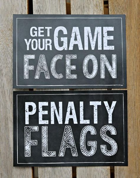 BOY SPORTS THEME Birthday Party Signs. Get Your Game Face On   Etsy