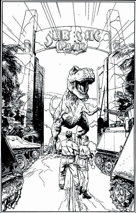 Jurassic Park Coloring Page New Jurassic Park By Bryan On Random In 2020 Jurassic Park Tattoo Jurassic World Dinosaur Coloring