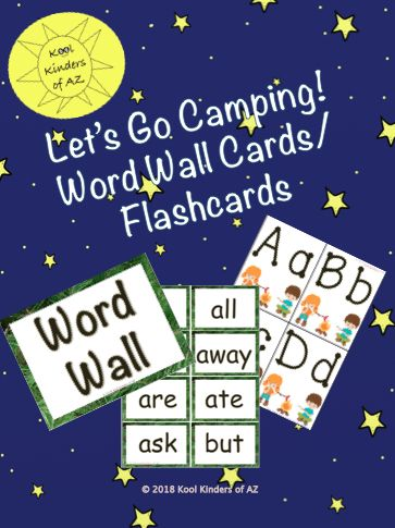 Camping/Forest Themed Word Wall Cards (or flashcards) | Teachers Pay