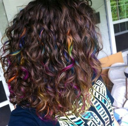 55 Ideas Hair Dyed Highlights Curls For 2019 Dyed Curly Hair Hair Styles Curly Hair Styles Naturally