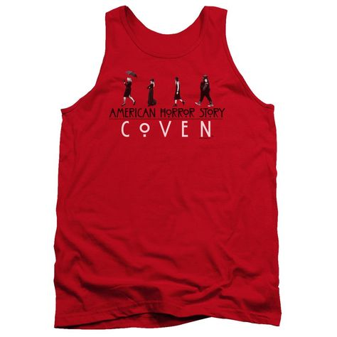 American Horror Story/witch Parade-adult Tank-red - RED / MD