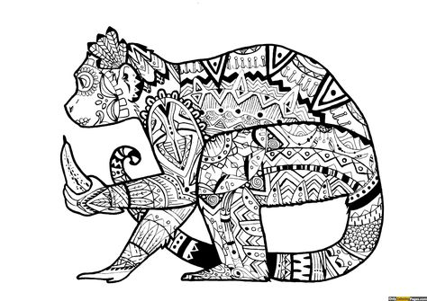 Expert Level Monkey Mandala Coloring Page With Images Monkey Coloring Pages Animal Coloring Pages