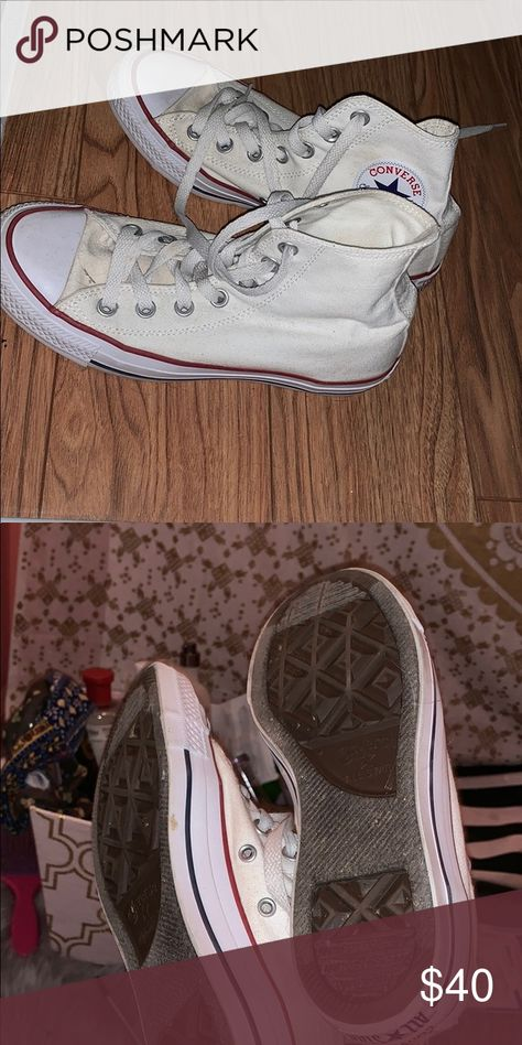 75fad1f1dfa3 Converse Worn once pretty new just have been in the closet for a while  comes without box Converse Shoes