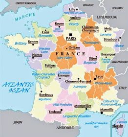 Ekucole Septiembre 2014 France Map Lyon France Strasbourg France