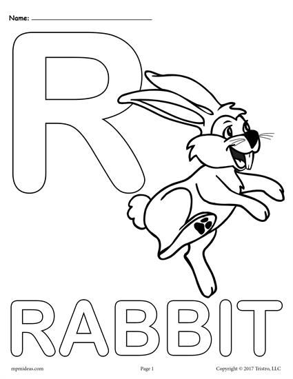 Letter R Alphabet Coloring Pages 3 Printable Versions Alphabet Coloring Pages Alphabet Coloring Abc Coloring Pages
