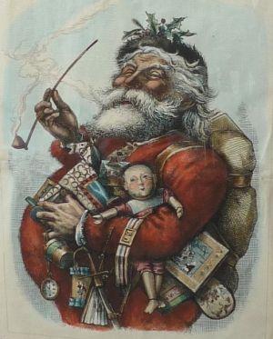 Thomas Nast Original Weihnachtsmann Bild Harper Wochentlich 1 Januar Harper Januar Original Thoma Christmas History Santa Claus Images Santa Claus
