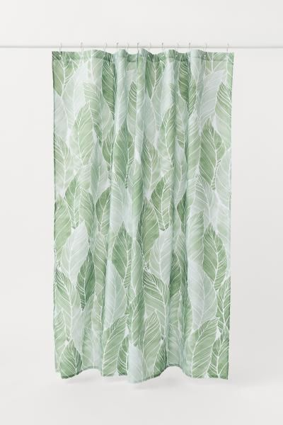 Patterned Shower Curtain Cool Shower Curtains Green Shower