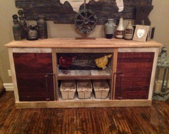 Rustic Barnwood Console LeCoultre collection by ReBarnCHF on Etsy