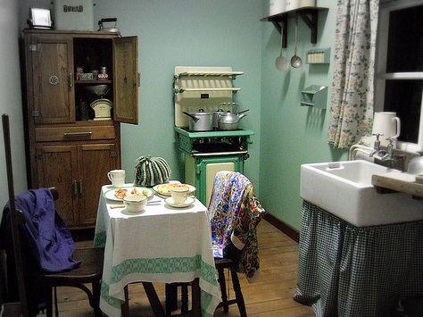 Kitchen Dining 1940 S War Time 1940s Kitchen 1940s Decor 1940s Home