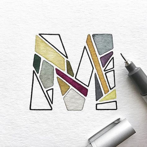 ▫️◻️▫️M for Mosaic? Maybe? ...Or another letter for a little bit of Midweek Magic ✨#letterM #dropcap