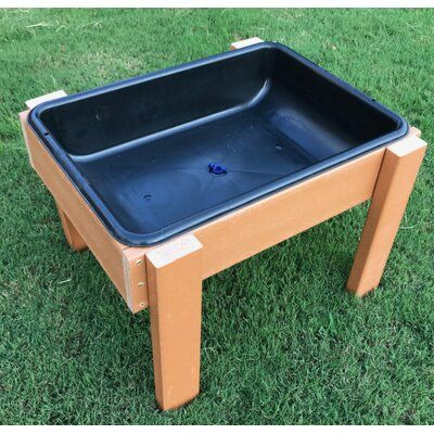 Outdoor Sand and Water table for Kids Summer fun Sand And Water Table, Water Tables, Sand Table, Water Table Diy, Sandbox Cover, Kids Sandbox, Mud Kitchen, Montessori, Play Table