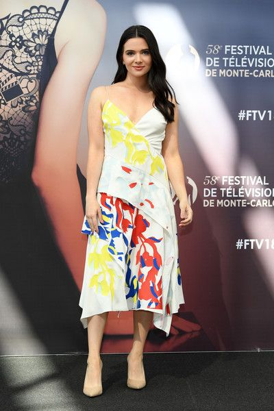 Katie Stevens from the series 'The Bold Type' attends a photocall during the 58th Monte Carlo TV Festival.