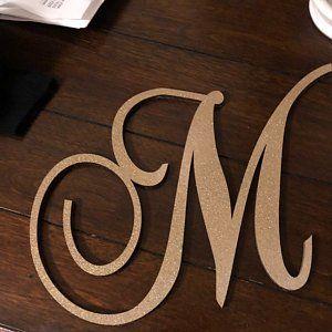 DIY, Wooden Monogram Perfect for Crafts Unfinished Cursive Wooden Letter