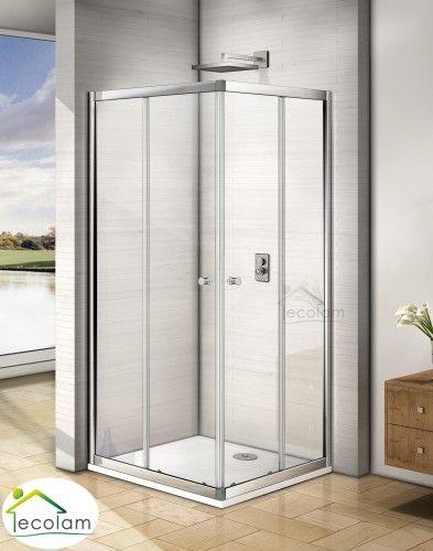 Duschkabine Viereck Dusche Transparentes Glas 80x80 X 185 Cm Skiros