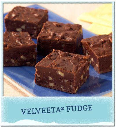 Easy Velveeta Fudge. YUM! #CookingUpGood #ad