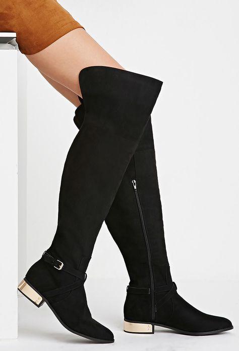 90685deead5ee Cuissardes en Suédine - chaussures et bottes pour Femmes  voir en ligne    Forever 21 - 2000179566 - Forever 21 EU Français