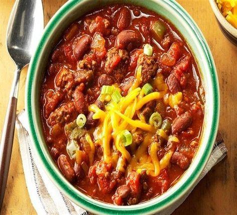طريقة عمل اللوبيا الناشفة بأكثر من طريقة Slow Cooker Chili Slow Cooker Recipes Cooker Recipes