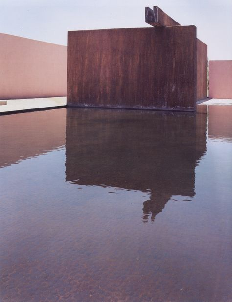 To me Luis Barragan is one of the best architects at creating powerful spaces with the fewest possible pieces. He does this by using vibrant colors, creating rich gradients with light, and interesting materials like the raw iron in this photo.