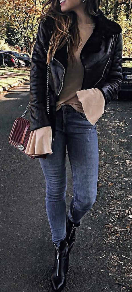 10 Cozy Winter Outfits To Copy Asap Jacken Leder