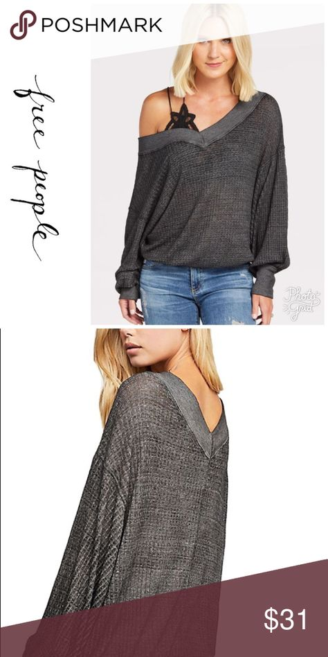 The Free People South Side Thermal Top The Free People South Side Thermal Top  Size Medium $68 NWT Color Black A long-sleeve, casual layer you'll want to wear on days when comfort is paramount, but you don't really need warmth. Its loose fit has a flattering drape, complemented by the wide V-neck that lets your shoulders peek out. The cotton-poly blend sits in an ultra-light knit that maximizes airflow. Oversize sleeves give you a relaxed look, and are extremely cozy whether you're curled up on