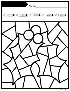 Christmas Coloring By Number Coloring Pages Editable Christmas Colors Coloring Pages Christmas Color By Number