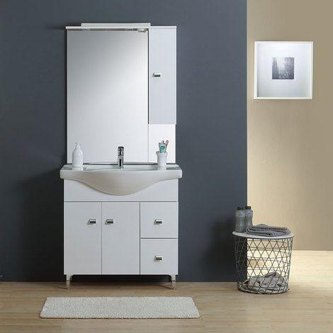Badmobel 85 Cm Mit Unterschrank Waschtisch Spiegel 02010043000016 Unterschrank Waschtisch Schrank Zimmer