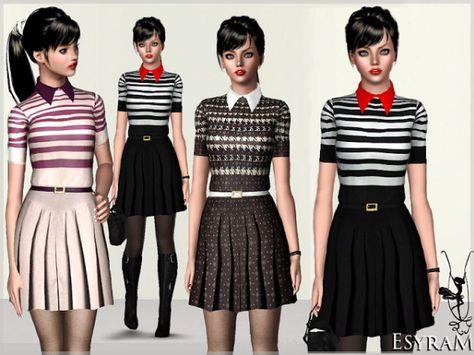 Stripe Polo Knit Dress by EsyraM