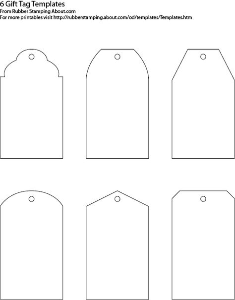 Make Your Own Custom Gift Tags With These Free Printable Templates - bag tag template