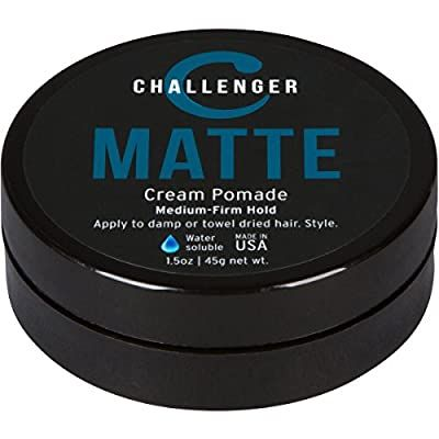 Matte Cream Pomade Challenger 1 5oz Medium Firm Hold Water Based Clean Subtle Scent Best Hair S In 2020 Lotion For Dry Skin Daily Face Moisturizer Styling Cream