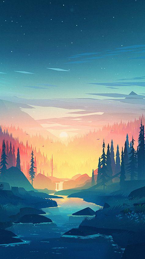 Forest Digital Art Wallpaper [1920x1080] : wallpapers