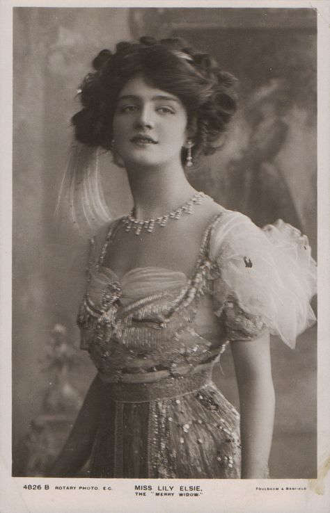 """Lily Elsie - who Lucile dressed in many theatrical performances including the """"Merry Widow"""""""