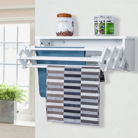 Wall-Mounted Folding Clothes Towel Drying Rack