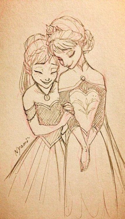 35 Trendy Drawing Disney Elsa Sisters #drawing