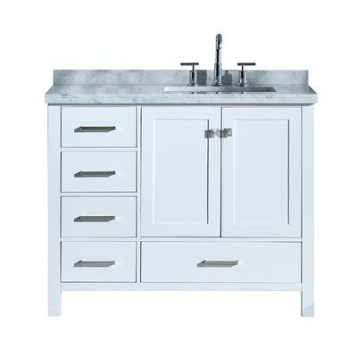 Three Posts Erithon 43 Rectangular Single Bathroom Vanity Set