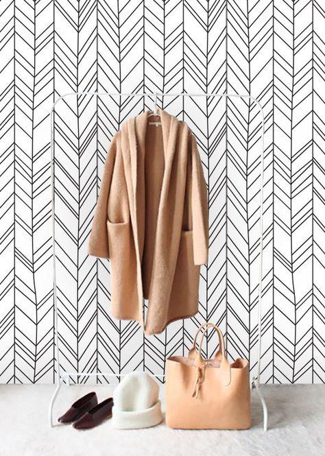 Self adhesive wallpaper , temporary wallpaper,removable wallpaper, geometric wallpaper , geometric pattern,peel and stick wallpaper  148