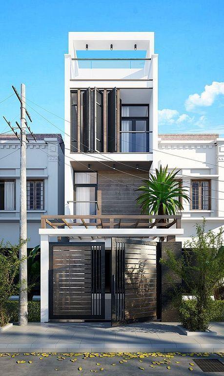 Dream House 27 Facade House Street House Narrow House Designs