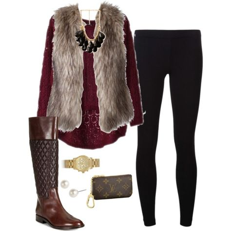 A fashion look from October 2013 featuring purple shirt, faux fur vest e James Perse. Browse and shop related looks. Cold Weather Outfits, Fall Winter Outfits, Winter Wear, Autumn Winter Fashion, Fur Vest Outfits, Casual Outfits, Cute Outfits, Look Fashion, Fashion Outfits