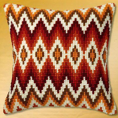 Cross Stitch Cushion Front Kit Ethnic Motif Vervaco PN-0149816