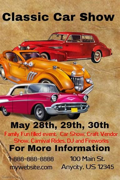 Image Result For Printable Car Show Flyers Car Show