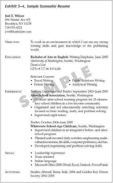 scannable resume examples - Kordurmoorddiner