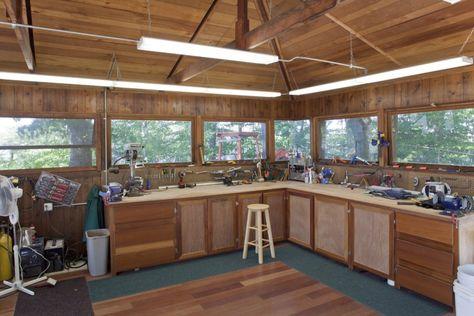home workshop Island House Design Modern  Frank Lloyd - home workshop ideas