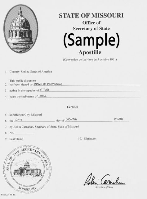 Missouri birth certificate for apostille State of Missouri - sample marriage certificate