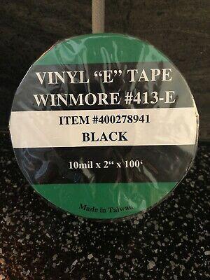 Ad Ebay Url Vinyl Black 10mil X 2 X 100 E Tape Roll Winmore 413 E In 2020
