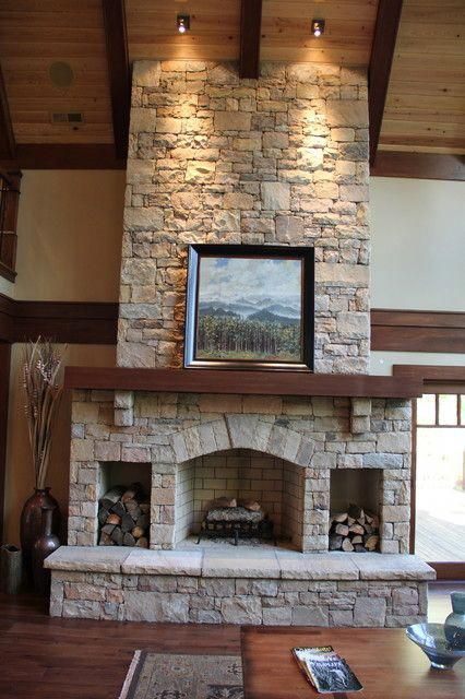 Love The Spaces For Firewood On Each Side Of The Fireplace No