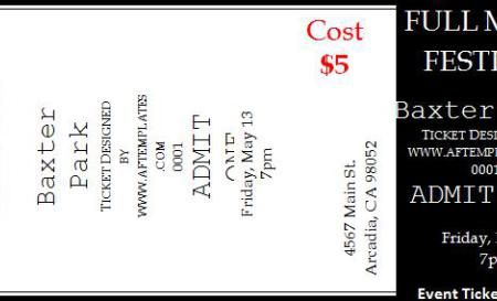 Asia Arif (asia_arif) on Pinterest - event ticket template word